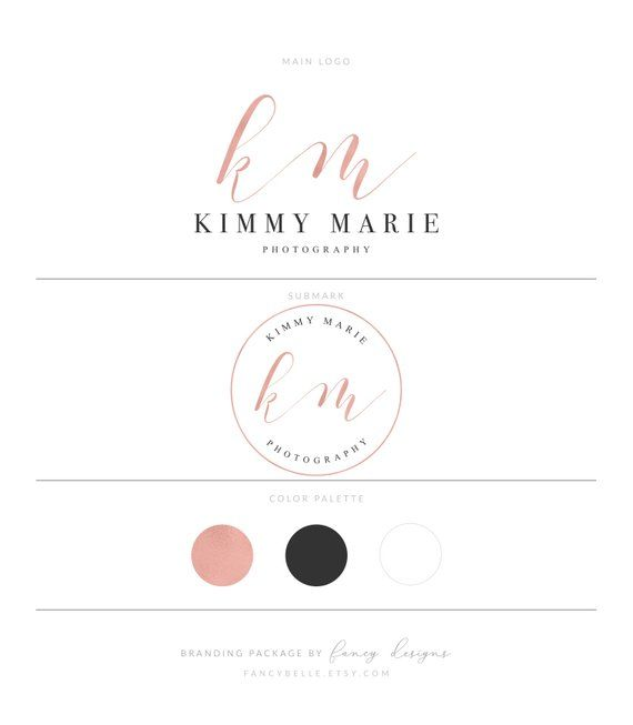 Rose Gold Logo Photography Logo Branding Package Realtor Logo Lash