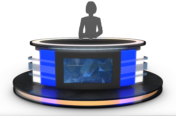 3d Model Store Virtual Tv Studio News Desks Professional 3d Models Ready To Be Used In Cg Projects Film And Video Production Animation Visuali Tv Estudio