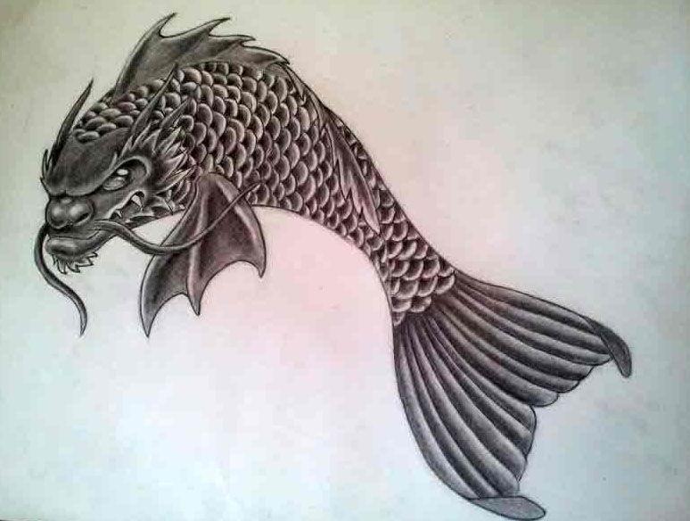 Hd female japanese dragon koi tattoo designs for Japanese koi dragon