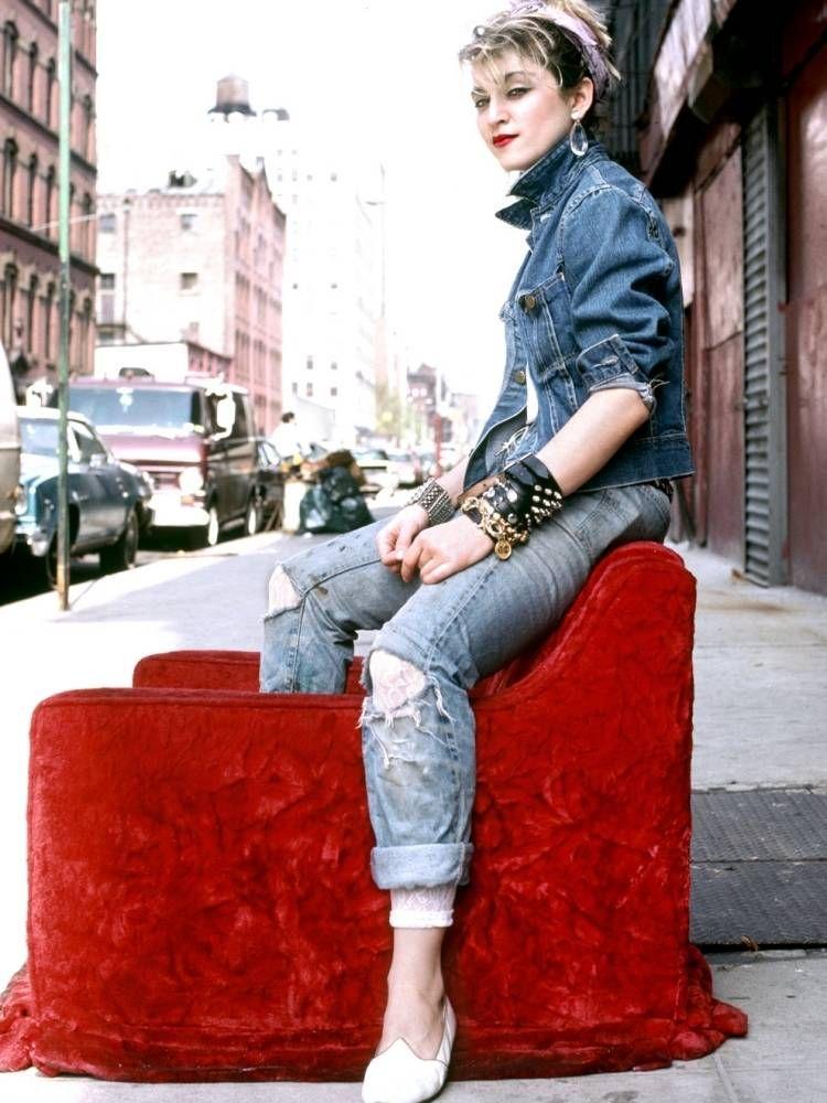 Madonna outfits aus den 80ern inspirierten die junge - 80er jahre outfit ideen ...