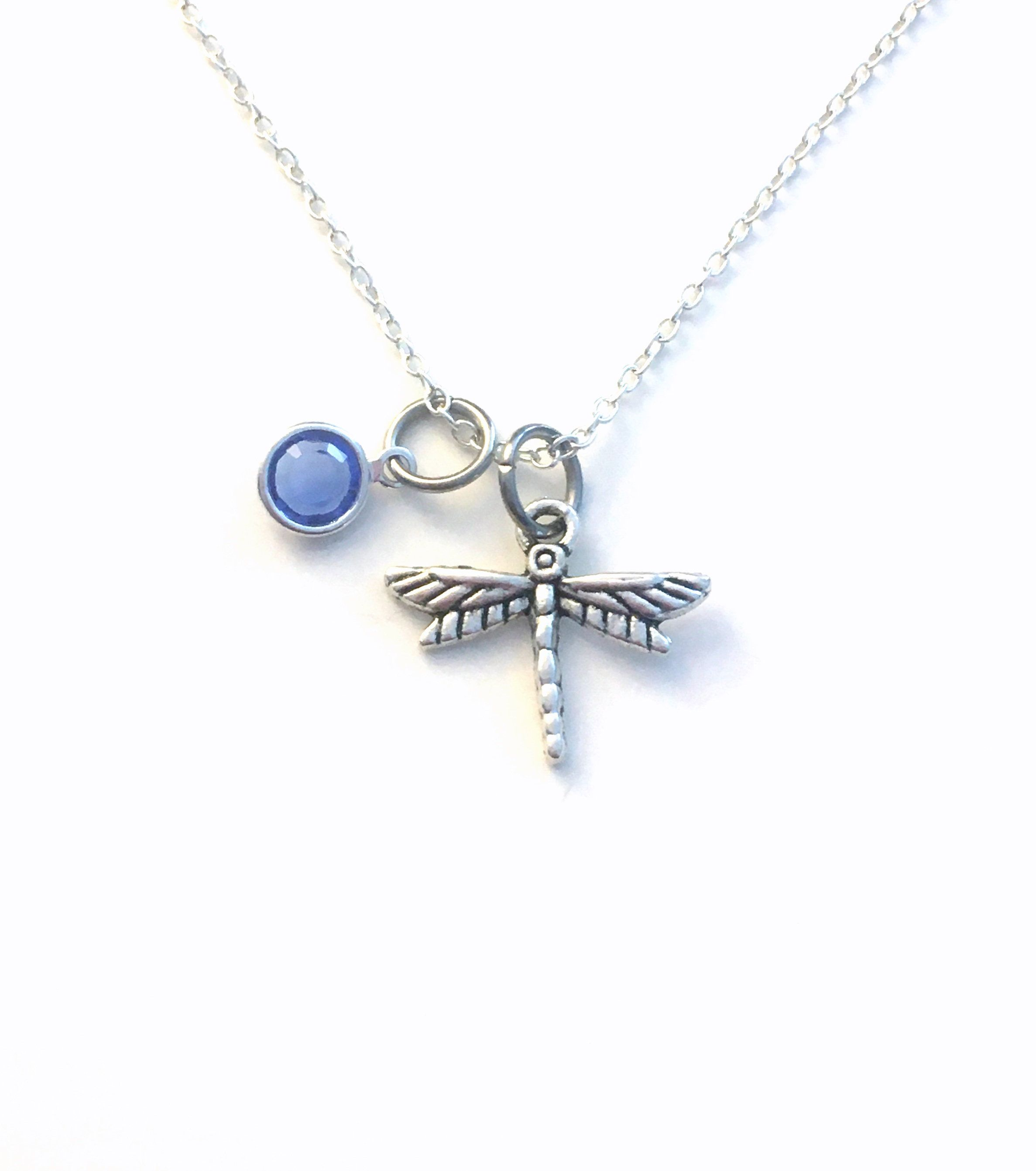 Dragonfly necklace dragon fly gift for gardeners jewelry