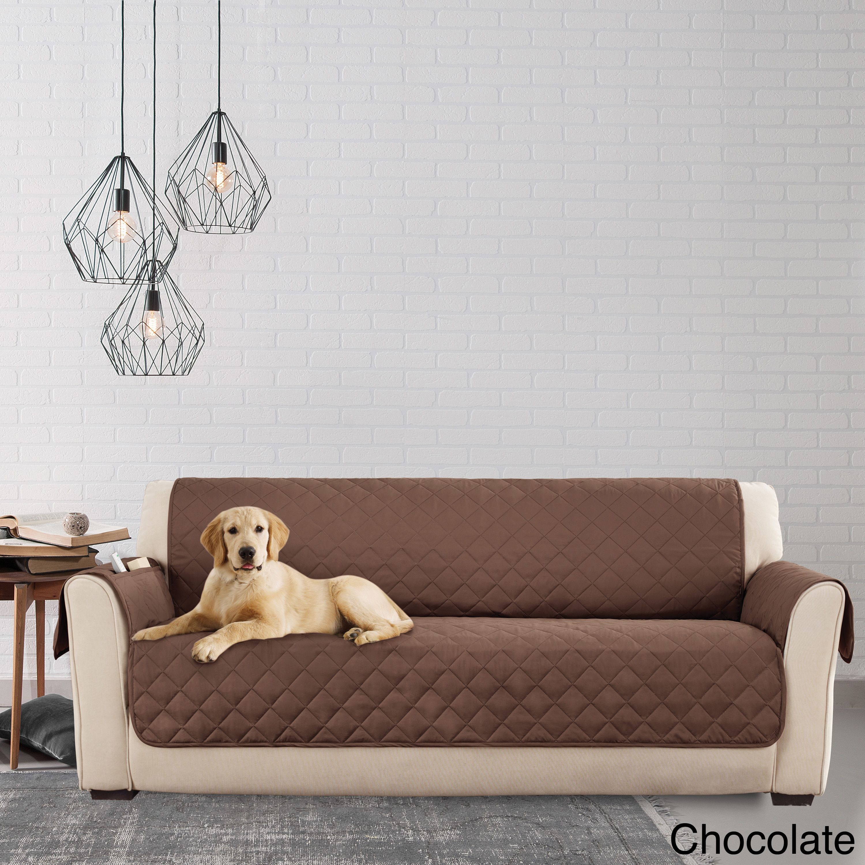 Sure Fit Microfiber Non Slip Sofa Pet Cover Furniture Protector