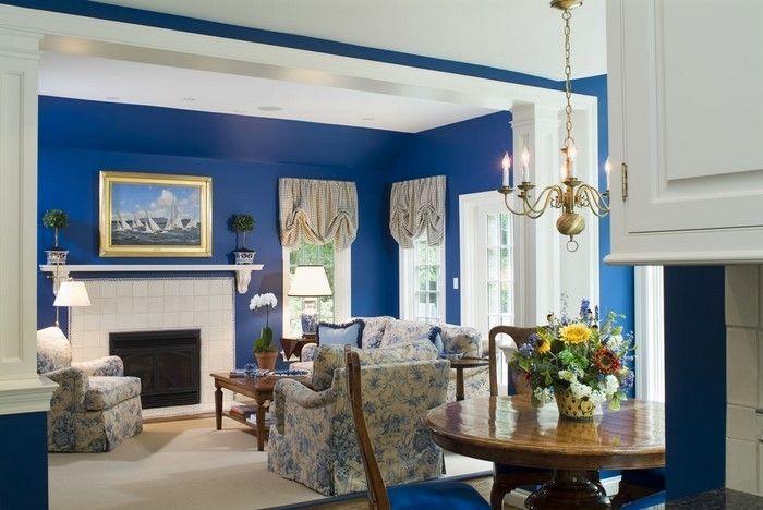 Wohnzimmer Farblich Gestalten Blau Eine Kreative Entscheidung