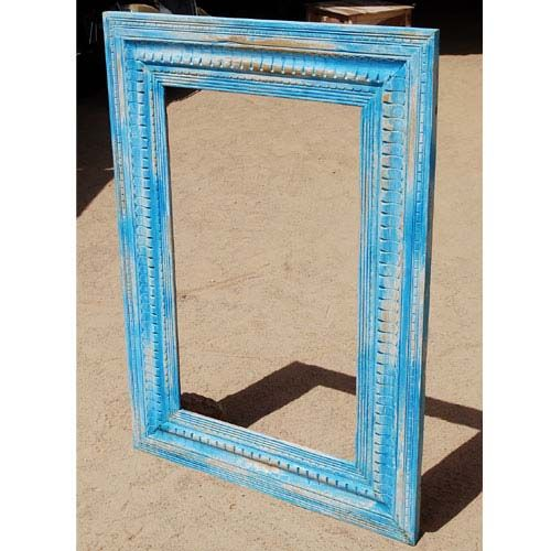 Oklahoma Farmhouse Blue Hand Carved #PictureFrame. #SolidWood, 100% #Handmade, 1 year Full Warranty. Sale Price: $620                             http://www.sierralivingconcepts.com