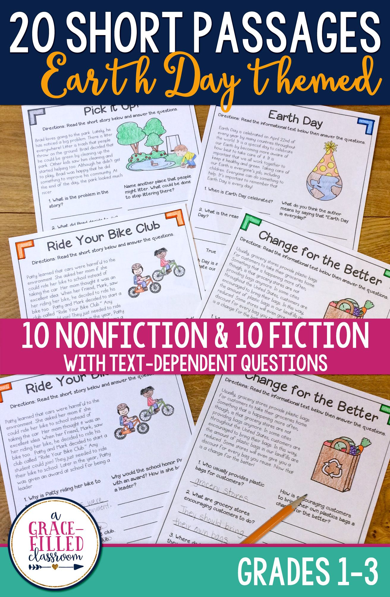 Fiction And Nonfiction Earth Day Passages