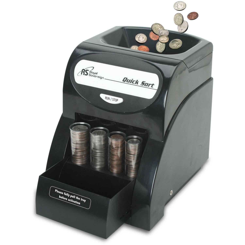Coin change sorter machine money counter sort count