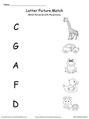 Uppercase Beginning Letter Sound: A C D F G | Actividades y Para niños