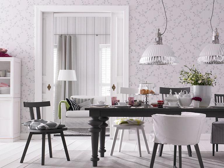 Neue Muster Für Die Tapete Tapete Mit Blumenranken SCHÖNER WOHNEN - Schöner wohnen tapeten wohnzimmer