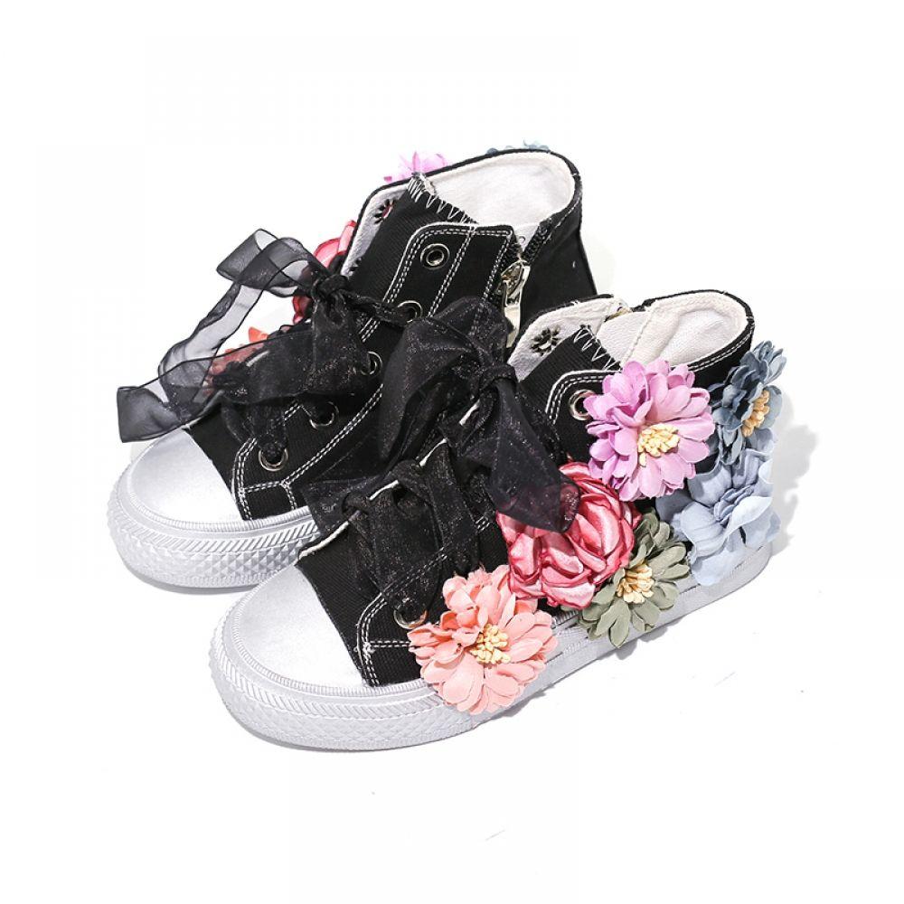 Cute Pig Kids Shoes Girls Canvas High