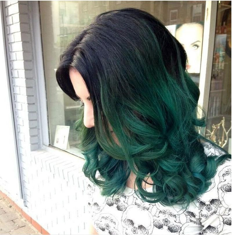 Dark green ombre hair pictures