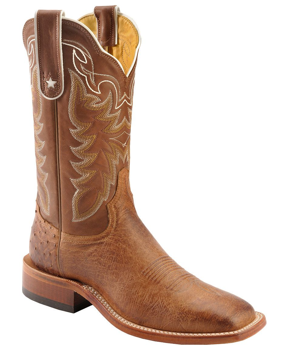 f2443c2632b Tony Lama Thoroughbred Smooth Quill Ostrich Cowboy Boots - Square ...