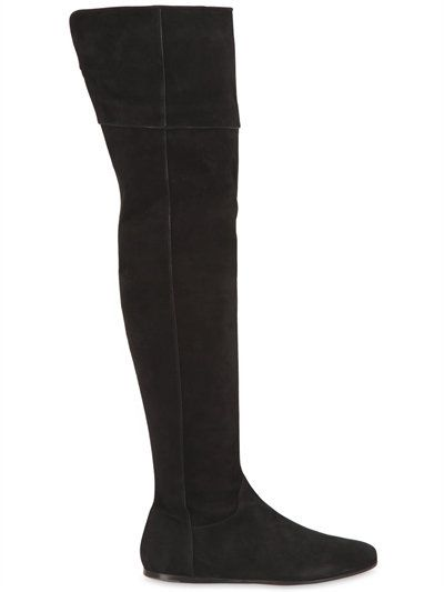 Etro 10MM SUEDE OVER THE KNEE BOOTS WU4Z31Z