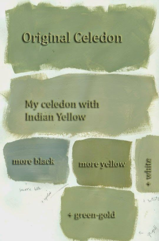 collage journeys: Mixing Celedon and a GIVEAWAY Study in Celedon- white black yellow