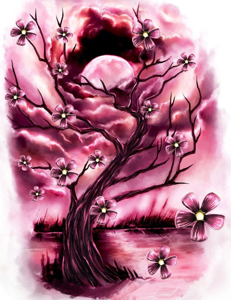 Cherry Blossoms Sky Tattoos Art Cherry Blossom Art