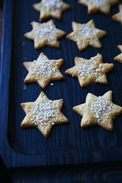 Swedish Star Cookies With Pearl Sugar Best Christmas Cookie Recipe Swedish Recipes Best Holiday Cookies