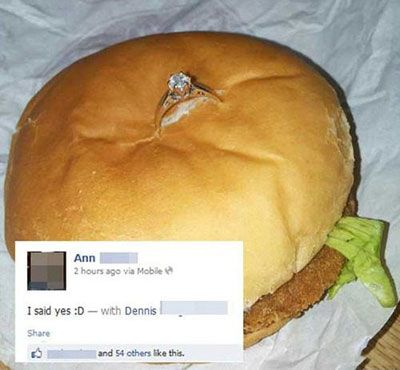 Man Proposed To Girlfriend By Sticking Ring In Fast Food Chicken