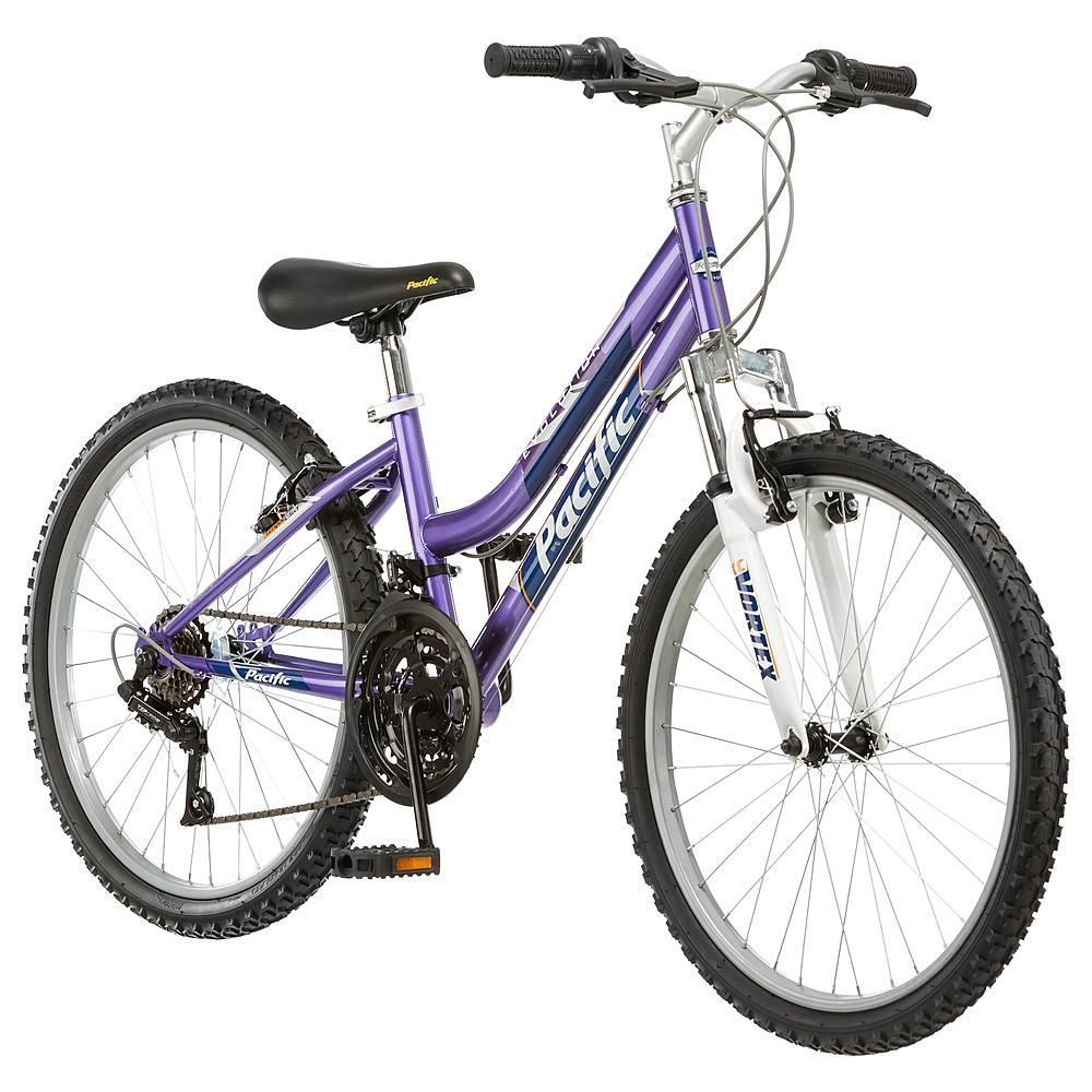 Evolution 24 Inch Girl's Mountain Bike Purple Evolution