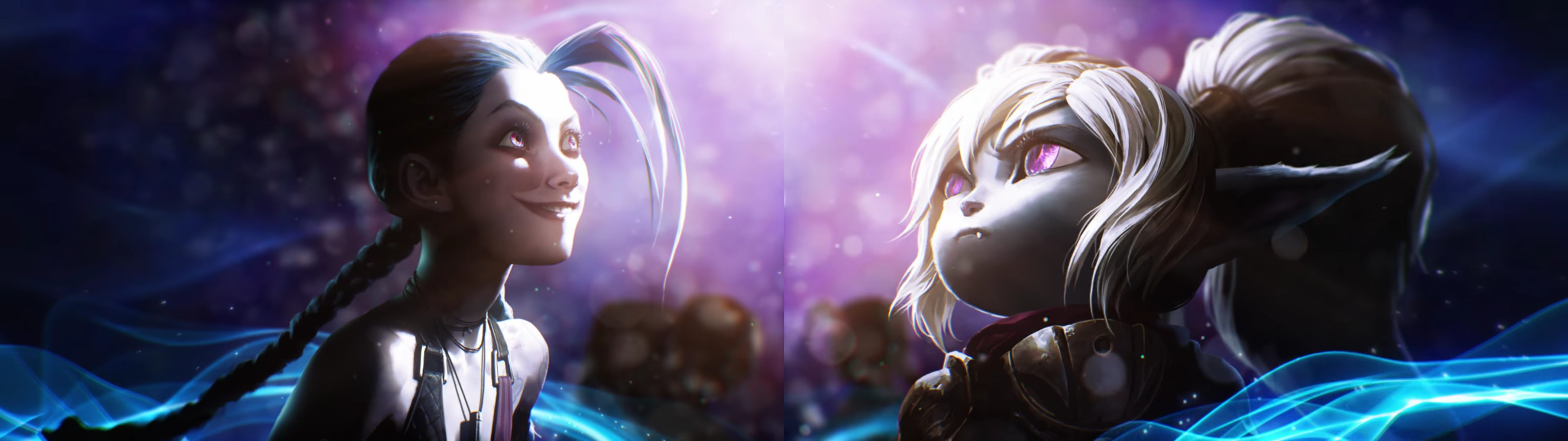 Dual screen wallpaper (3840x1080) from the LoL