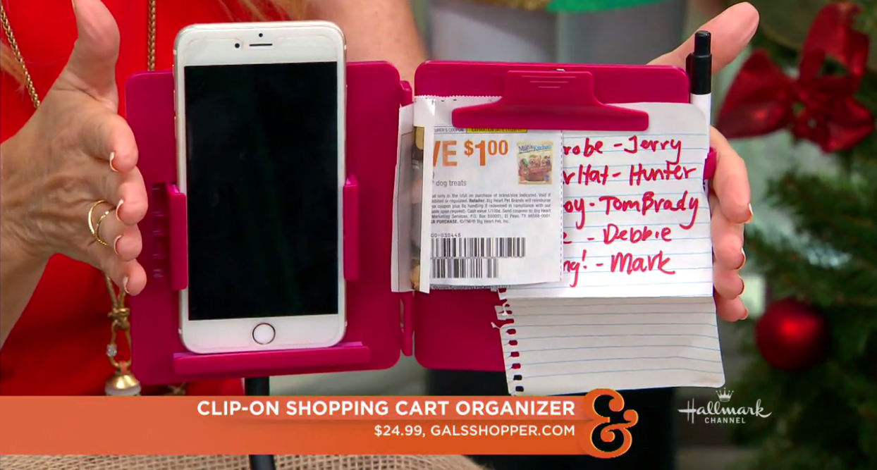 Gals Shopper All In One Portable Shopping Organizer Qvc Shopping