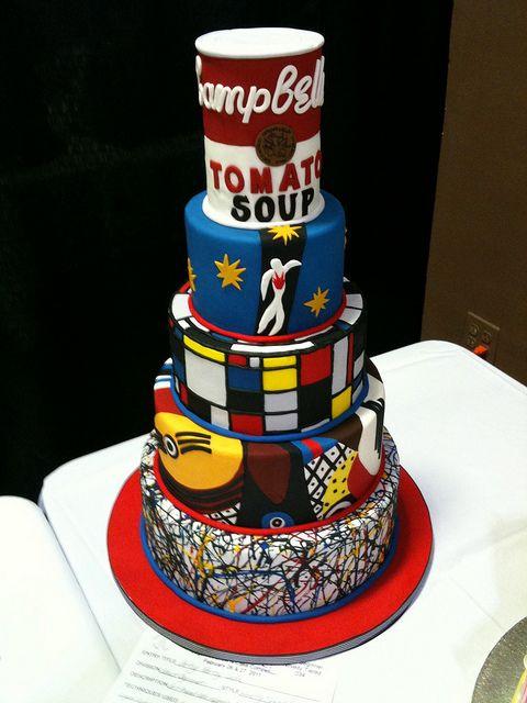 Modern Art Cake    ...BTW, check this out!!!! :   artcaffeine.imobi...