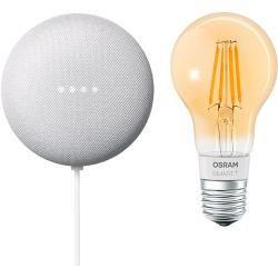 Google Nest Mini & Osram Smart+ Set 18 (Rock Candy)Bauhaus.info #googlehomemini