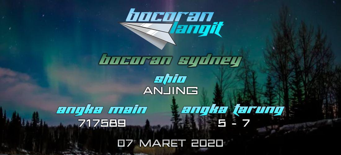 Bocoran Togel Sydney 7 Maret 2020 Hari Sabtu Dari Langit di 2020   Sydney. Langit. Shanghai