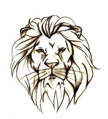 lion head outline tattoo google search