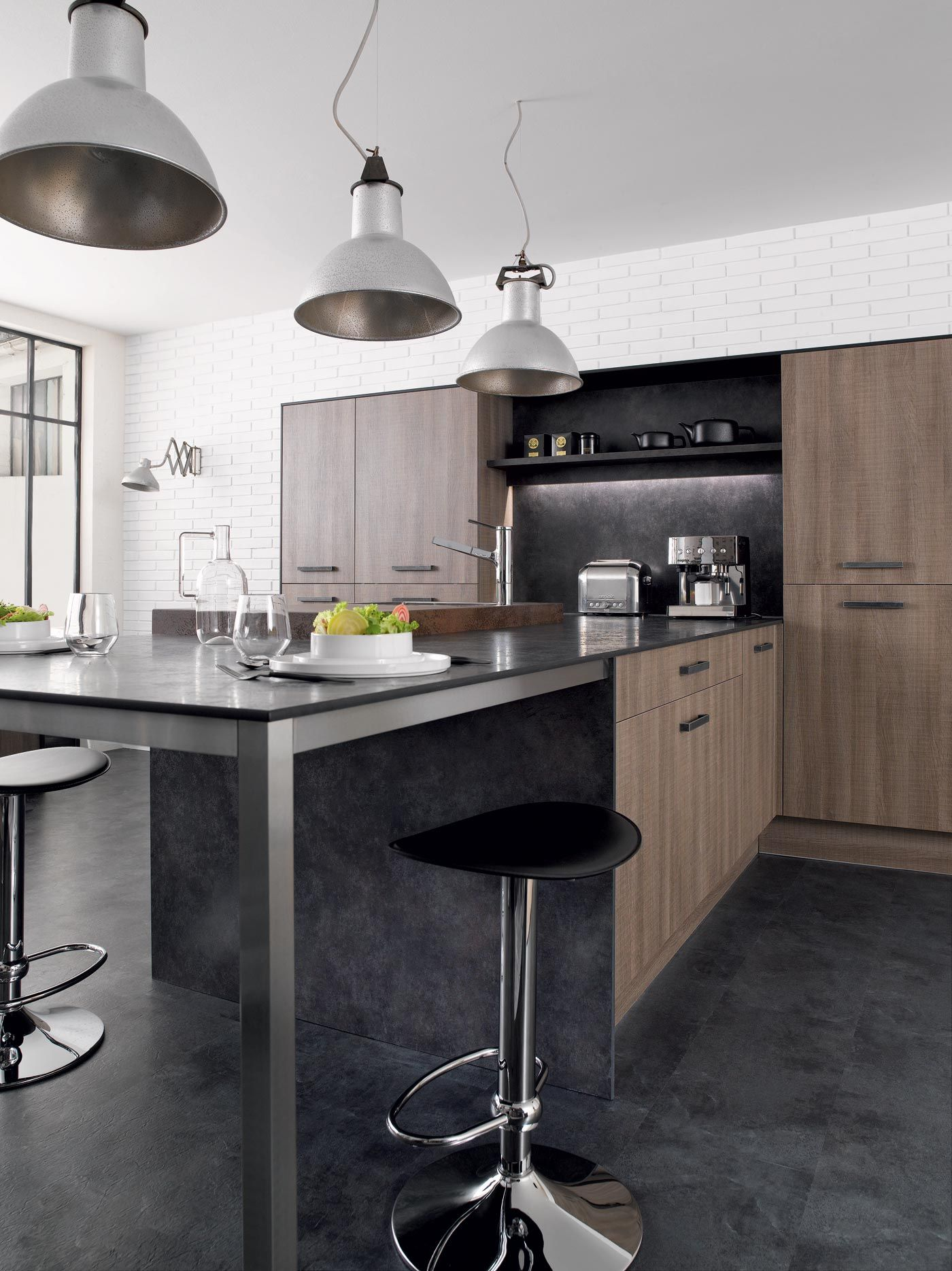 cuisine aster rustica gris perene lyon id e pour ma cuisine pinterest aster lyon and. Black Bedroom Furniture Sets. Home Design Ideas