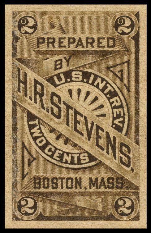 H R Stevens Sheaff Ephemera Vintage Typography Vintage Graphic Design Vintage Lettering