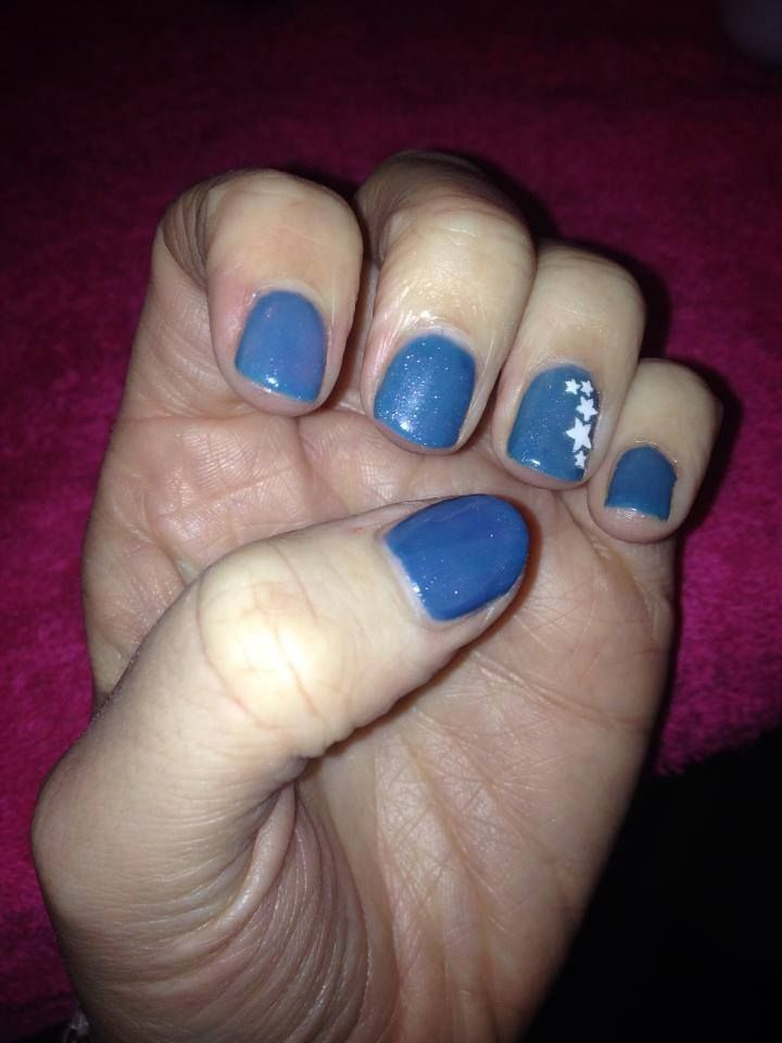 CND Shellac Grapefruit Sparkle Over Blue Rapture