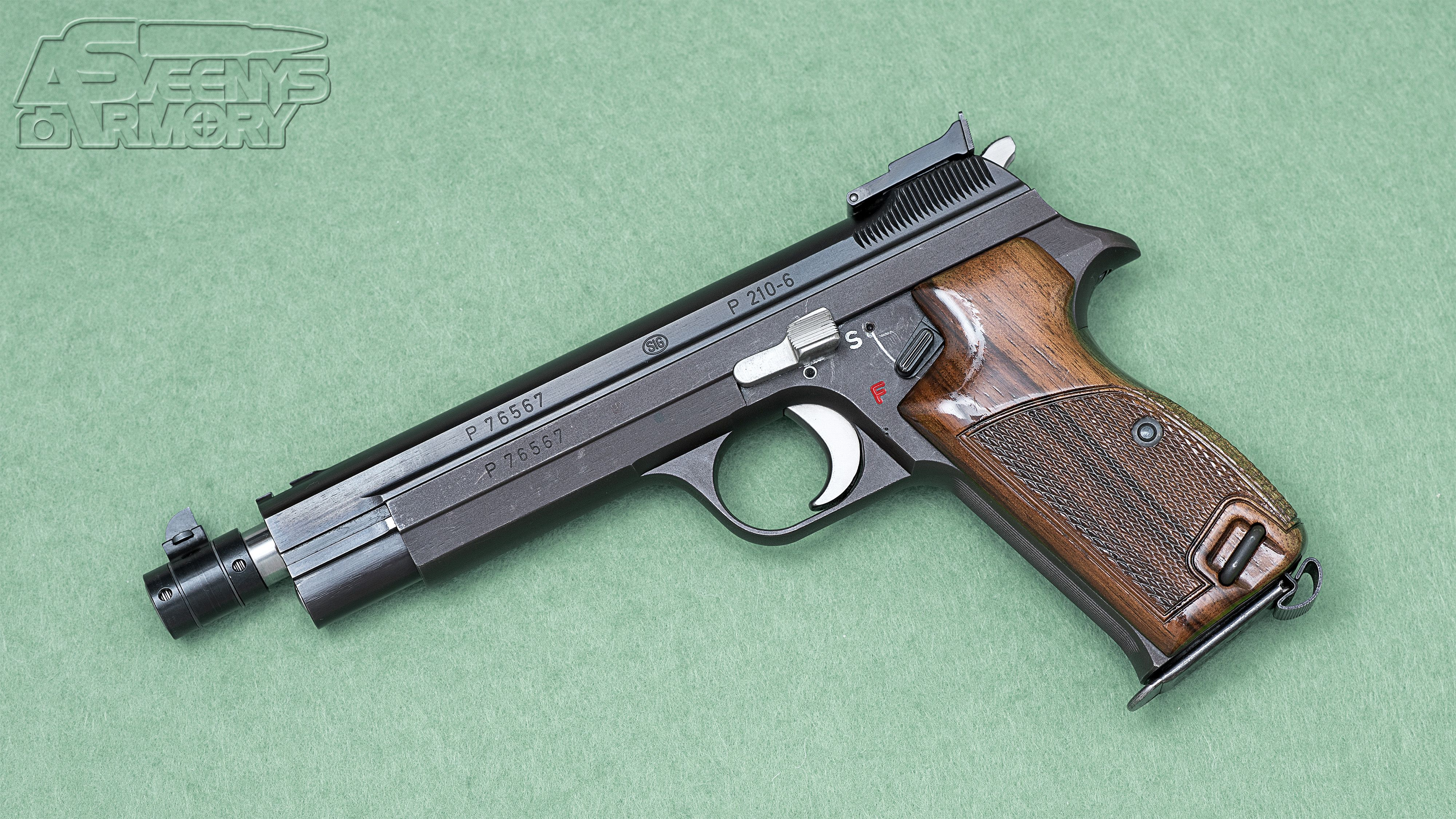 SIG P210-6 Heavy Frame (forged) - Pursuing the Grail [4000x2250][OC ...
