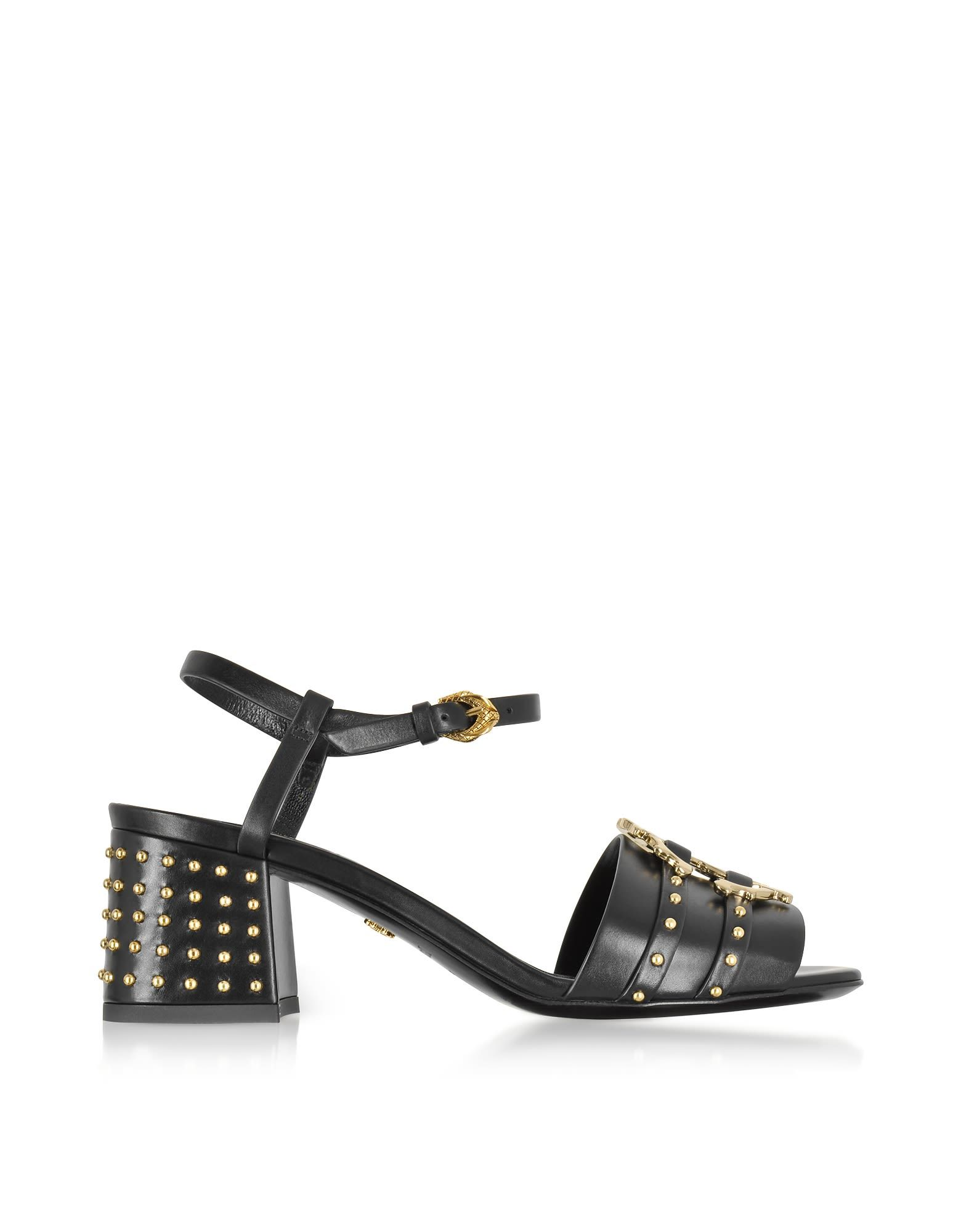 ROBERTO CAVALLI | Roberto Cavalli Roberto Cavalli Black Leather Studded  Sandals #Shoes #Sandals #