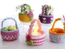 Photo of Süße kleine Körbchen für Teelicht, Ostereier und andere Kleinigkeiten – Häkelanleitung