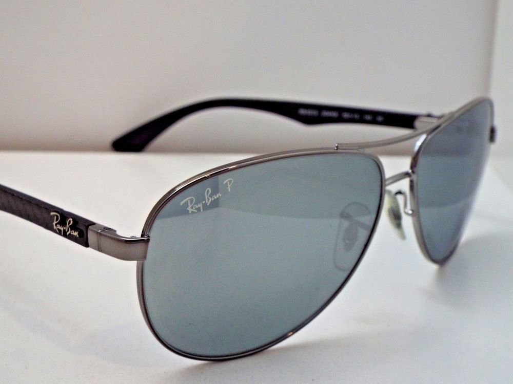 b8c57554c1f Authentic Ray-Ban RB 8313 004 K6 Gunmetal Silver Mirror Polarizd Sunglasses   320