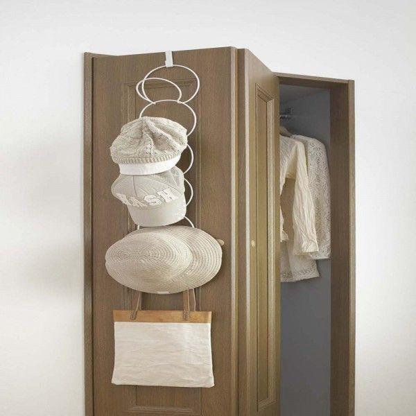 Hanging Hat Cap Rack Over The Door Or Closet Rod By Yamazaki