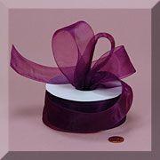 Shimmer Sheer Organza Ribbon - Plum - Paper Mart