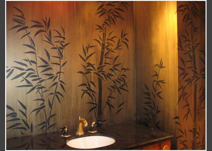 stencils Painter Genie Bamboo wall decor, Bamboo wall