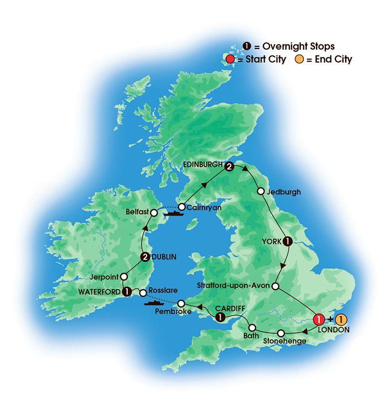 British Amp Irish Elegance 10 Day Tour Overnights 1 London