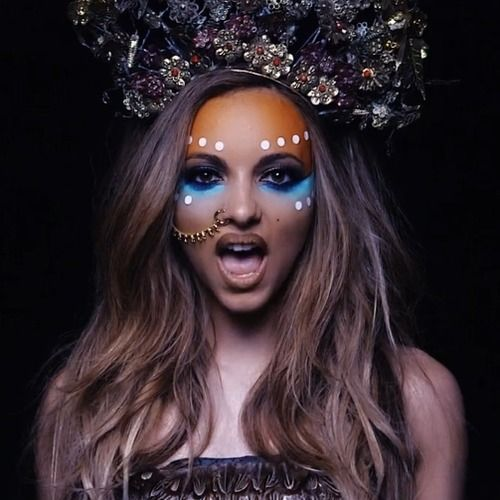 Jade Little Mix Turquoise Under The Eye Dots On Cheekbones Hair