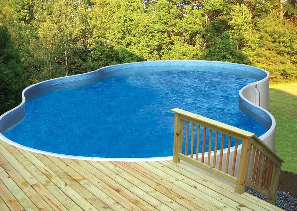 Aboveground Pool Against Hillside Slope Radiant Aboveground Pools