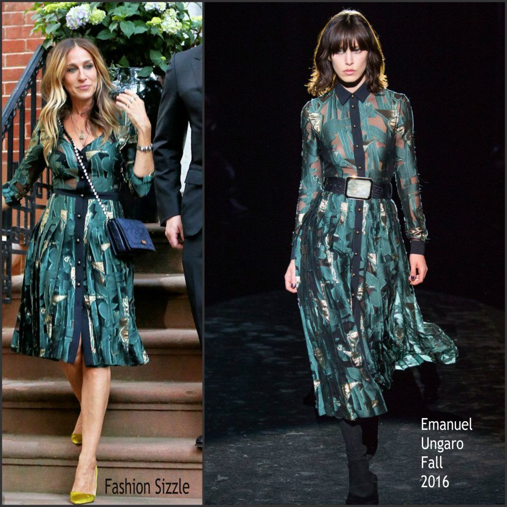 Sarah Jessica Parker in Emanuel Ungaro at the Hillary Victory Fund Fundraiser