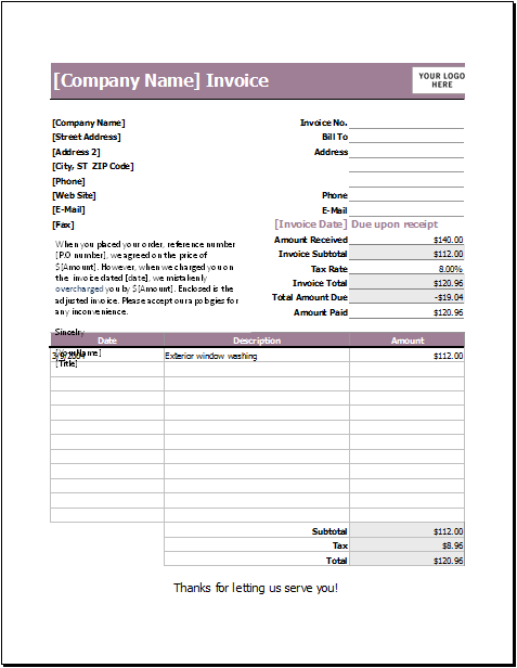 Invoices.com Letter Refunding Invoice Download At Httpwww.templateinn11 .