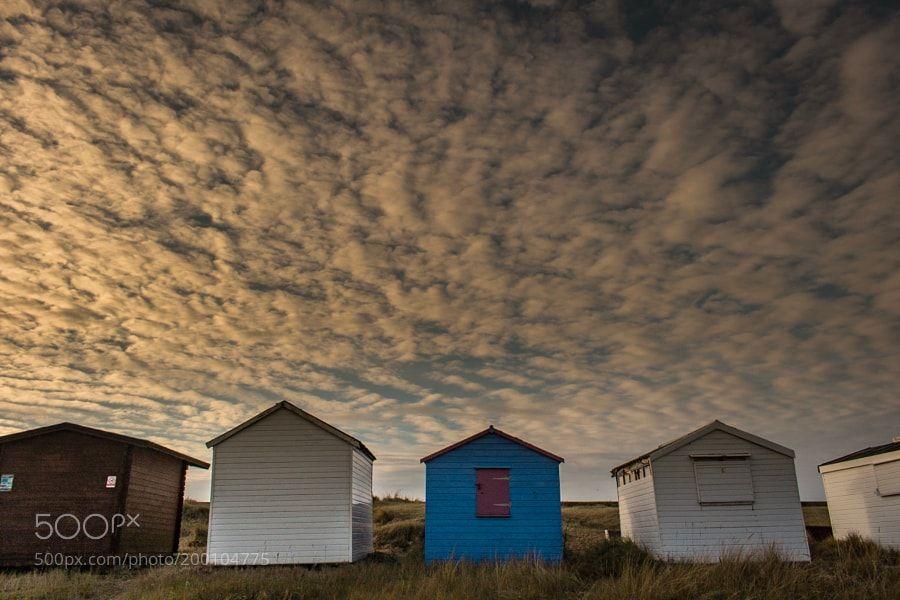 Heacham beach huts in Norfolk by ashleytaylor1987
