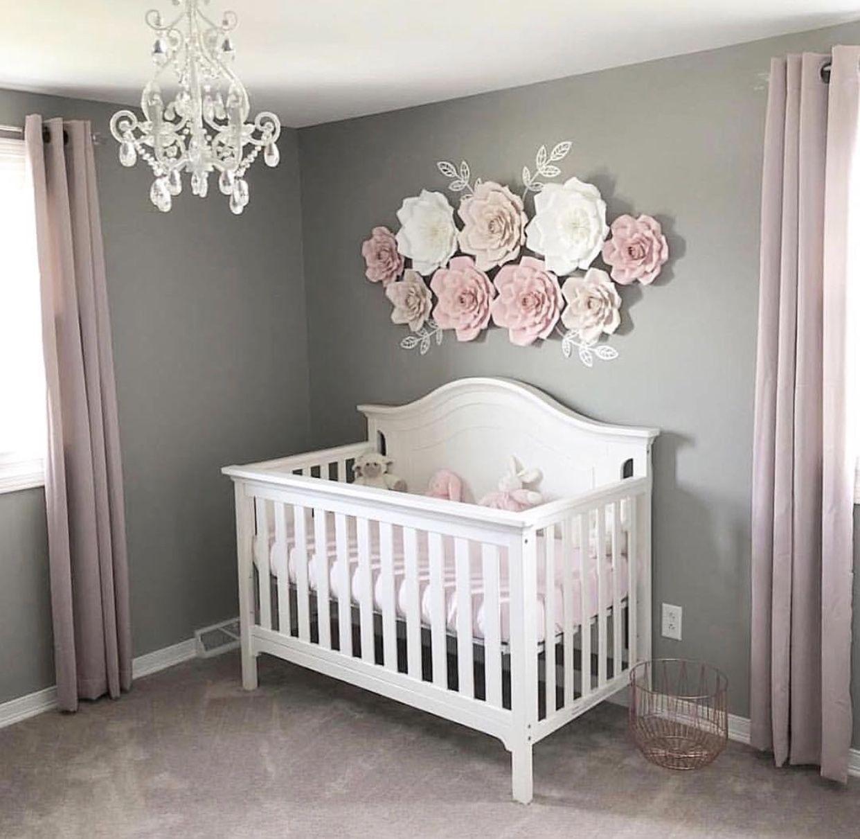 Baby Girl Flower Wall Nursery Baby Girl Nursery Room Baby Girl