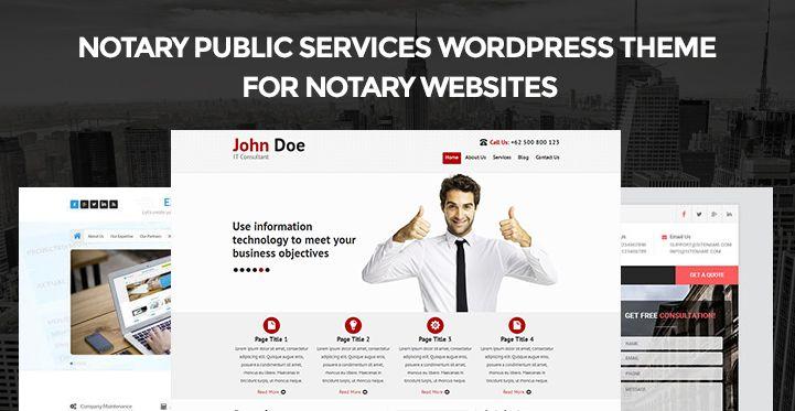 Notary Public Services WordPress Theme For Websites Https Www Sktthemes