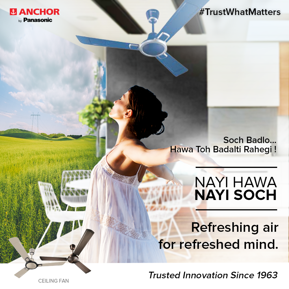 Feel Refreshed And Rejuvenated Like Never Before With Anchor By Panasonic Fans These Are Durable Energy Efficie Ceiling Fan Design Ceiling Fan Life Solutions