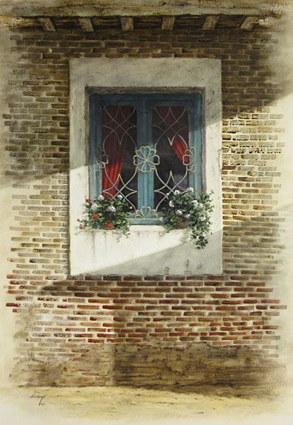 Alireza Sadaghdar 窓 ドア イラスト
