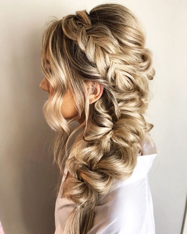 Pin By Mamakatz On Team Jacob 2021 In 2020 Braided Hairstyles For Wedding Thick Hair Styles Wedding Hair Side