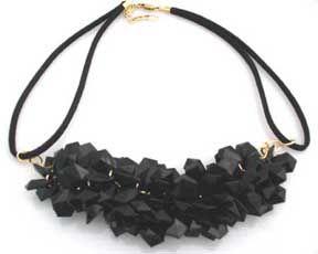 Black Lucite Necklace   Desideri design vintage