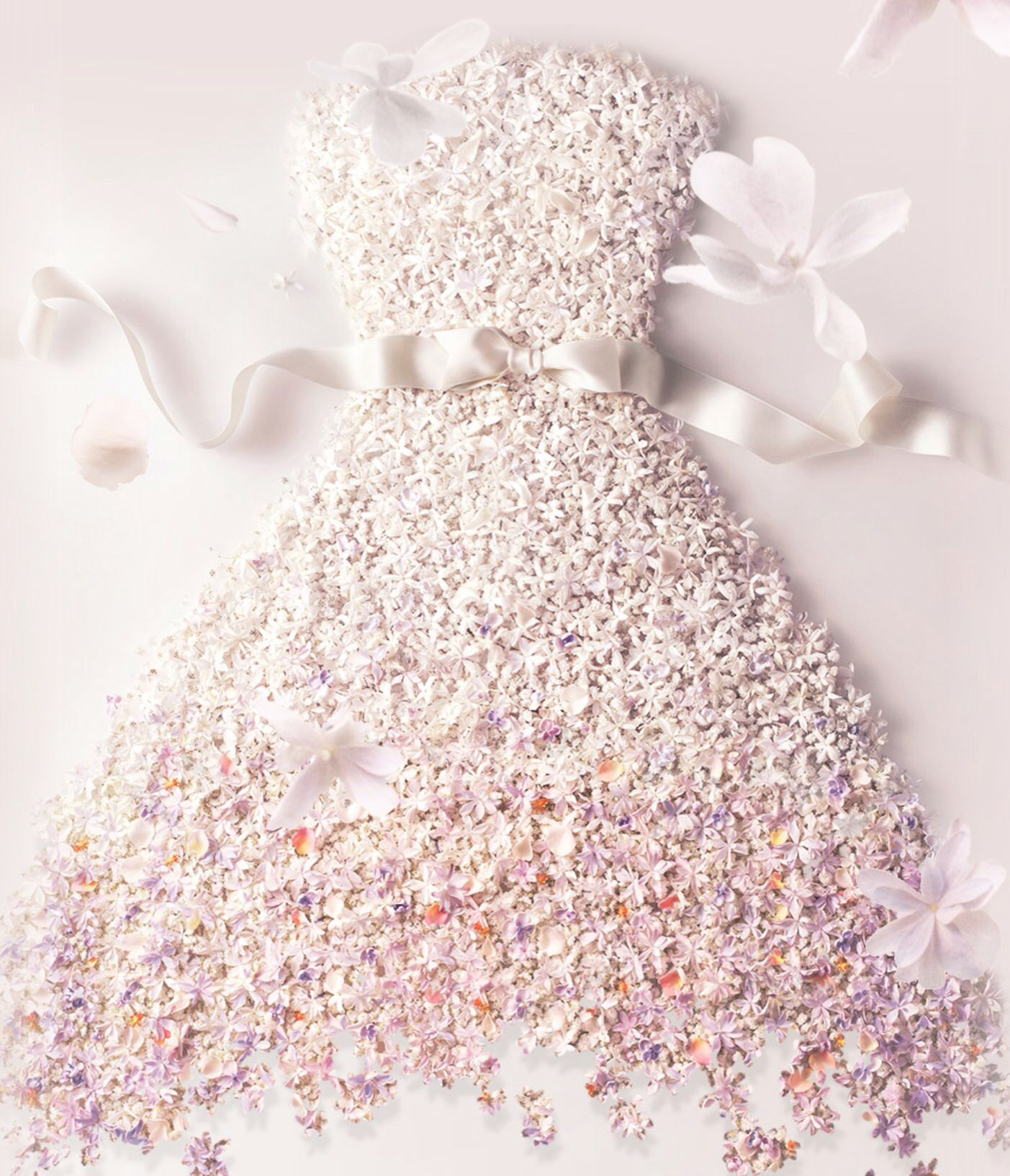 #miss Dior #blooming bouquet digital campaign #raff simons #dress #interpreted in flowers.